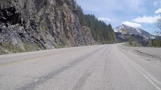 Driving up a Mountain in British Columbia Canada. Kootenay Region. Southeast BC.