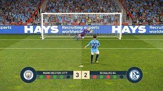 MANCHESTER CITY vs SCHALKE 04   UEFA Champions League - UCL   Penalty Shootout   PES19
