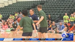 Celebrity two-on-two basketball game at Le Moyne welcomes in students