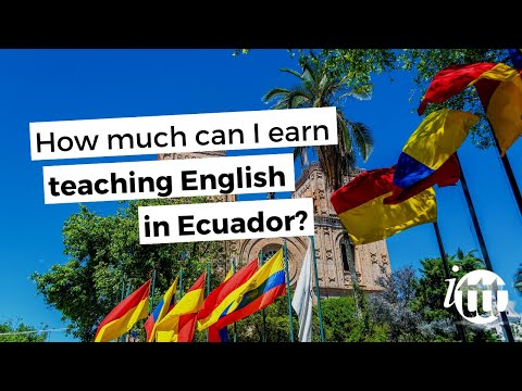 video on how much you can earn working as a TEFL teacher in Ecuador