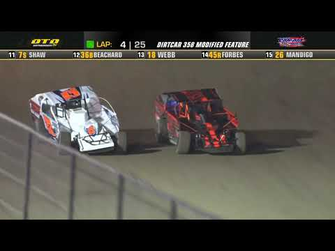 Can-Am Speedway   DIRTcar 358-Modified Feature Highlights   7/16/21 - dirt track racing video image