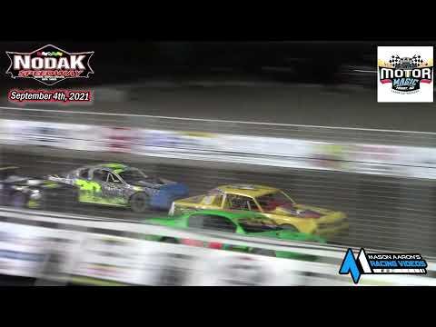 Nodak Speedway IMCA Stock Car A-Main (Motor Magic Night #2) (9/4/21) - dirt track racing video image