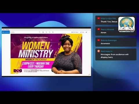 JESUS PATTERN OF MINISTRY- WOMEN IN MINISTRY WEEKLY  PROGRAM