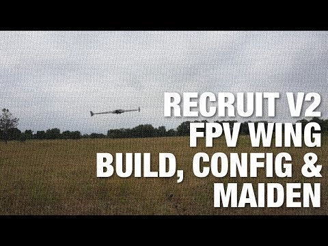 RMRC Recruit V2 FPV Wing Build, Wiring, FrSky Taranis Config and Maiden - UC_LDtFt-RADAdI8zIW_ecbg