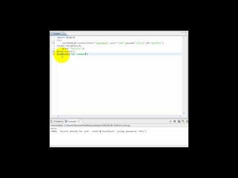 MySQLdb+Python:3
