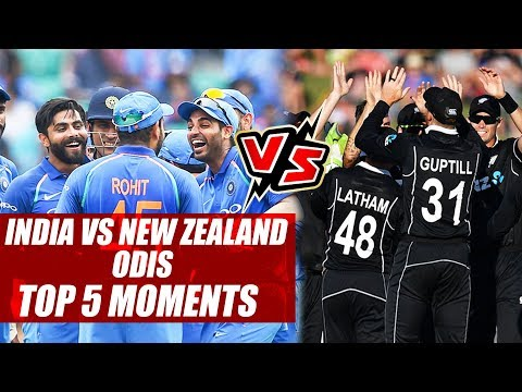 India vs New Zealand ODIs: Top 5 Moments To Remember From The Series