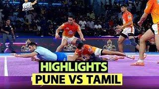 Pro Kabaddi 2019 Highlights(Hindi): Tamil Thalaivas VS Puneri Paltan | Sports Tak