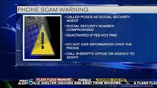 Pueblo Sheriff warns against Social Security phone scam