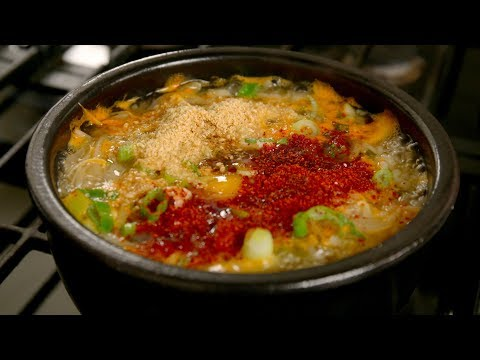 Soybean sprout soup with rice (Kongnamul-gukbap: 콩나물국밥) - UC8gFadPgK2r1ndqLI04Xvvw