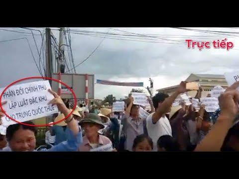 Trực tiếp: Tổng biểu tình phản đối dự luật cho thuê đất 99 năm trên cả nước