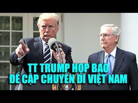 Tổng thống Trump họp báo sôi nổi ở Nhà Trắng, đề cập chuyến đi Việt Nam