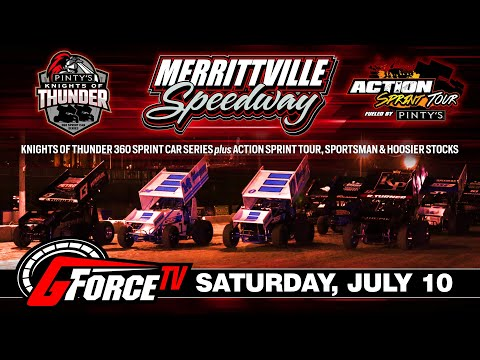 7/10/2021 - Knights of Thunder 360 Sprints and Action Sprint Tour - Merrittville Speedway - dirt track racing video image