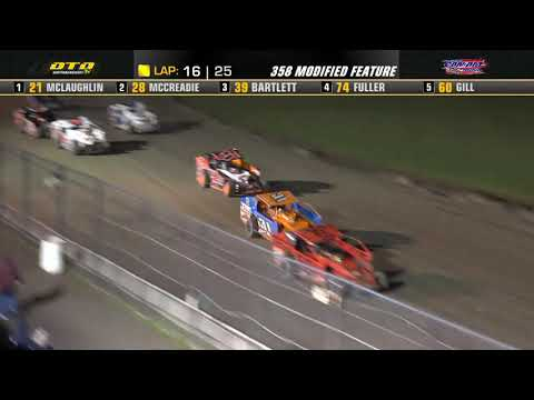 Can-Am Speedway   DIRTcar 358-Modified Feature Highlights   7/9/21 - dirt track racing video image