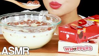 ASMR MALTESERS with WARM HEAVY CREAM EATING SOUNDS MUKBANG