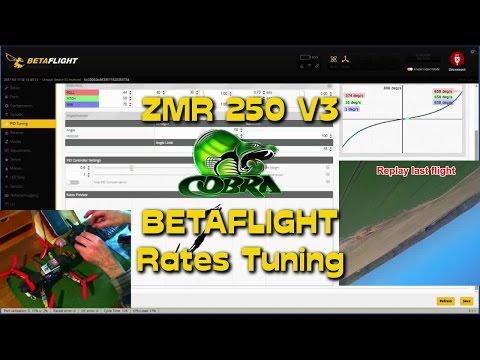 ZMR 250 V3 Cobra Betaflight Rates Tuning - UC7QkQok7ynASXXpnFuMOvEg