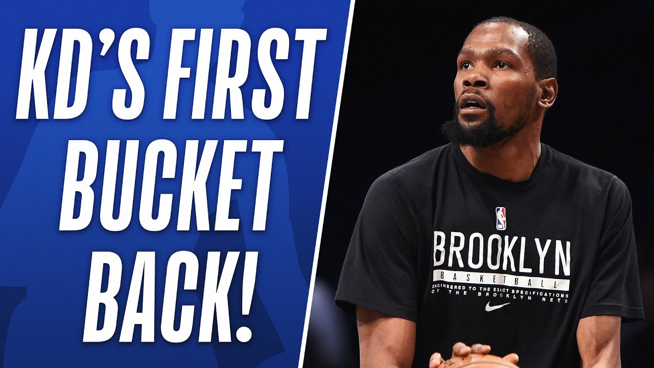 Kevin Durant's First Bucket in his Return! 🔥