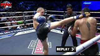 BEST FIGHT MUST SEE!!! [ USA VS THAILAND ] อาปิง ศิษย์ช่างหมู VS จาคอป เวย์แมน The Global Fight คู่4