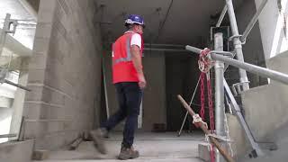 Dax : travaux de la nouvelle tribune du stade Maurice Boyau