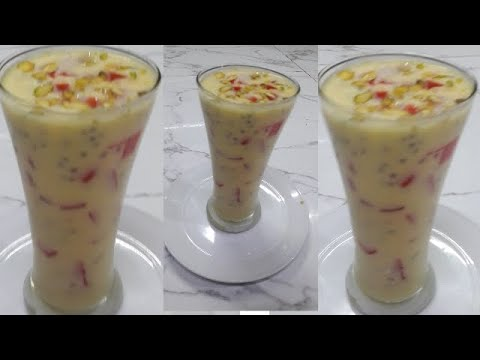 Custard Milk Shake/Dood ka sharbet/ Muharram ka sharbet/Ramadan  Special/ English