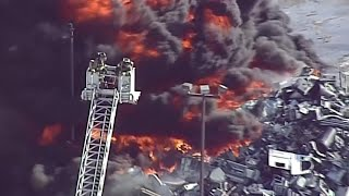 Fire erupts at recycling plant in Illinois