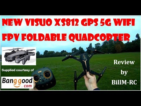NEW Visuo XS812 review - GPS 5G WiFi FPV Foldable Quadcopter Drone under $90 - UCLnkWbYHfdiwJEMBBIVFVtw