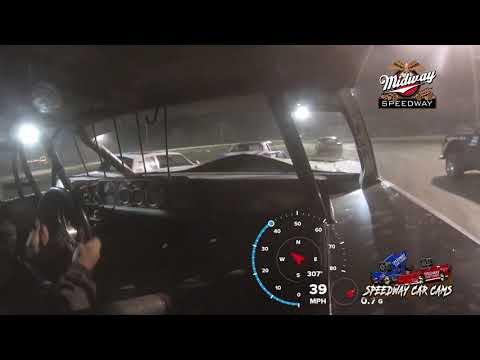 #541 Rob White - Usra Stock Car - 9-24-2021 Midway Speedway - In Car Camera - dirt track racing video image