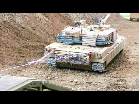 RC ABRAMS TANK RESCUE! Cool RC action! Amazing rc tanks! Strong Morooka T800 - UCT4l7A9S4ziruX6Y8cVQRMw