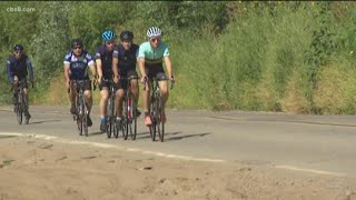Cyclists raising money for special needs nonprofit kick off ride at Chabad of Poway
