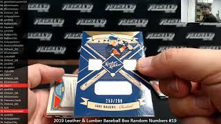 7/15/2019 2019 Leather & Lumber Baseball Box Random Numbers #19