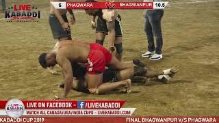 Final Match Bhagwanpur v/s Phagwara Uggi Kabaddi Cup - 2019