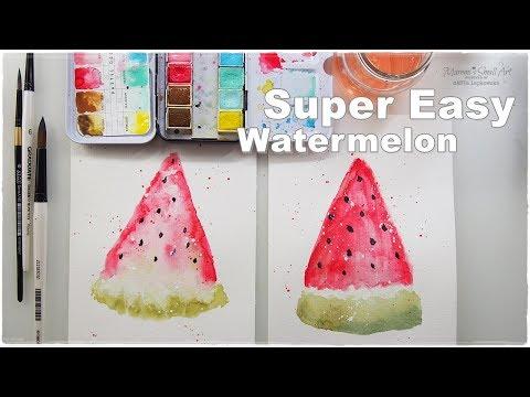 Super Easy Beginners Watercolor Watermelon for Kids ♡ Maremi's Small Art ♡ - UC5emavRXLyEVkLyU-PCGc3Q