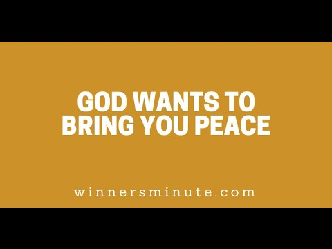 God Wants to Bring You Peace // The Winner's Minute With Mac Hammond