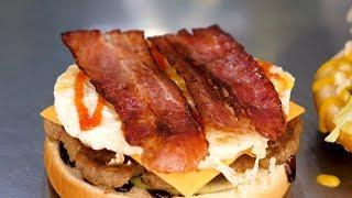 Bacon Hamburger - Korean street food