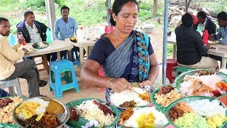 Hard Working Women Selling Roadside Food Hyderabad | Chicken,Boti @ 60Rs | Veg @50 Rs only