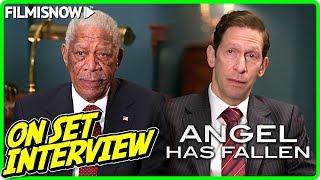 ANGEL HAS FALLEN | Morgan Freeman & Tim Blake Nelson On-set Interview