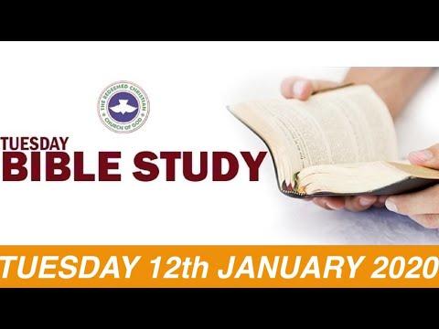 RCCG JANUARY 12th 2021 BIBLE STUDY