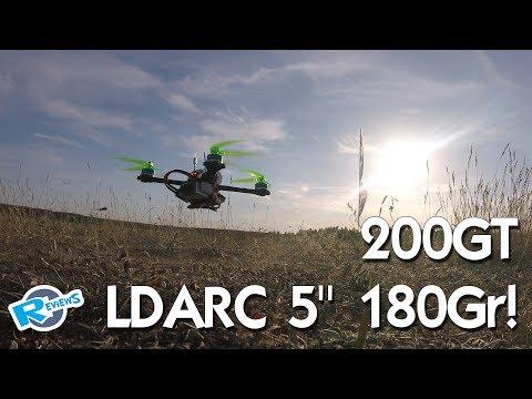 """LDARC 200GT 180gr 5"""" lightweight 4s race quad with aluminum shell - UCv2D074JIyQEXdjK17SmREQ"""