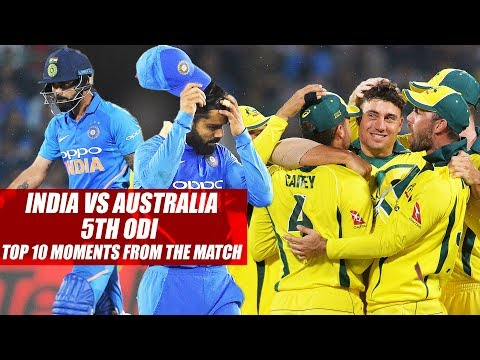 India vs Australia 5th ODI, Top 10 Moments From The Match
