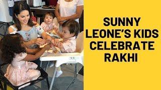Sunny Leone's Kids Nisha, Noah And Asher Celebrate Rakshabandhan | SpotboyE