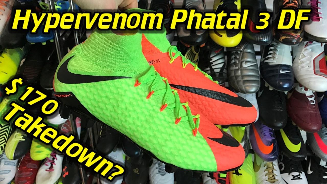 6879b8f3c Nike Hypervenom Phatal 3 DF (Radiation Flare Pack) - One Take Review + On  Feet