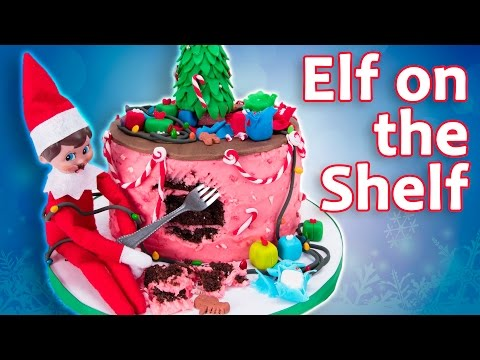 ELF ON THE SHELF CAKE - Elf Destroys Cake! from Cookies Cupcakes and Cardio - UCg-YSRB6TsIq-c5PUZ0F1Jg