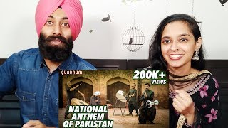 Indian Reaction on National Anthem of Pakistan (Rendition) | Quadrum | New Pakistani Music 2019