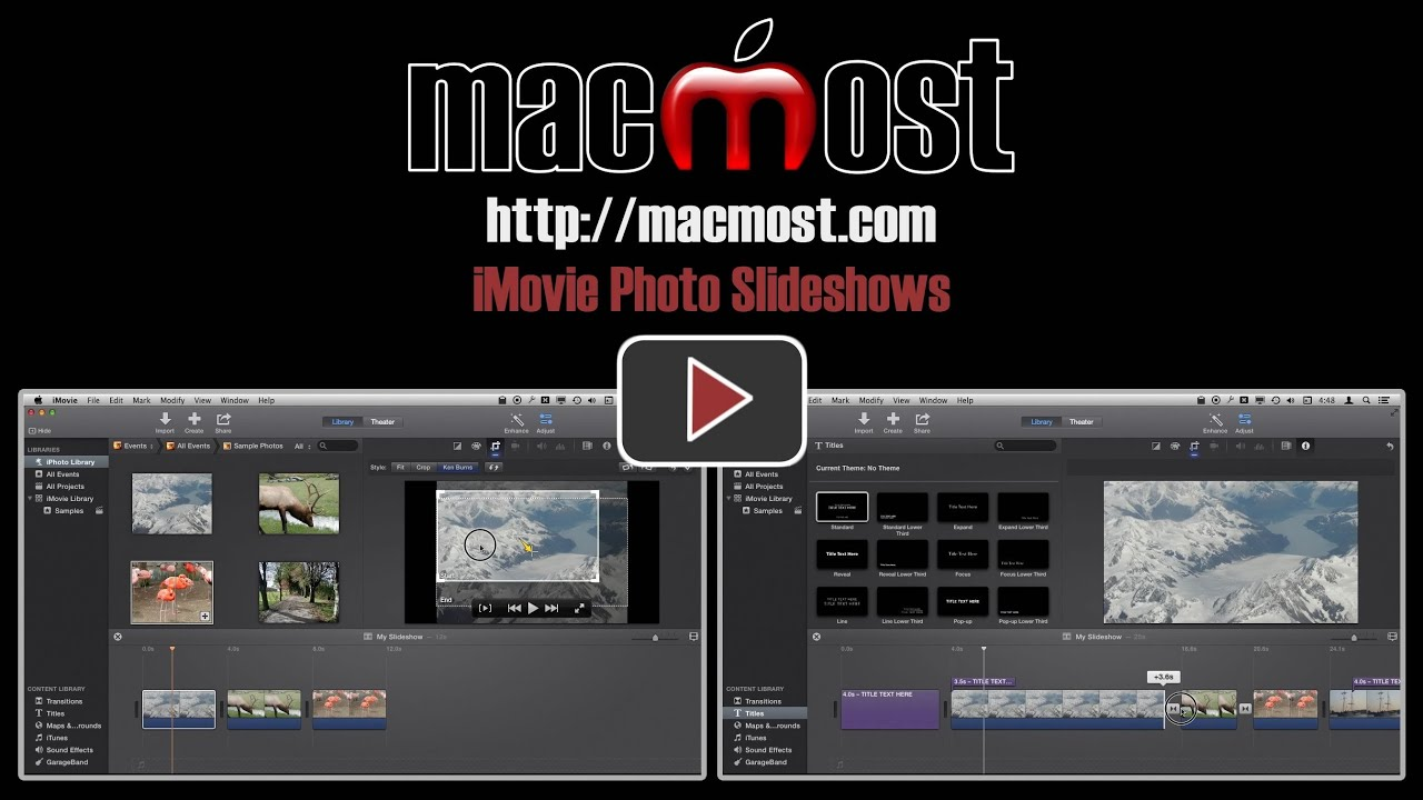 Imovie Photo Slideshows Macmost