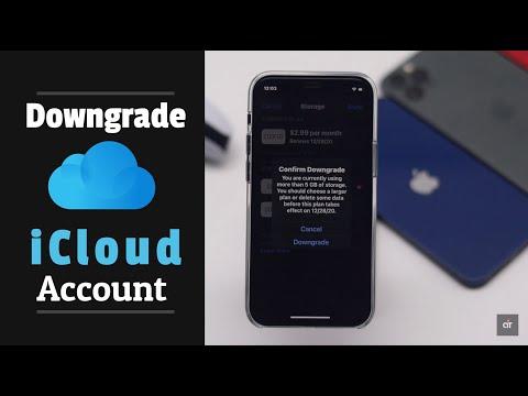 Cancel iCloud Storage on iPhone (Downgrade iCloud Storage)