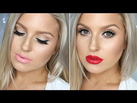 Simple Girly Christmas Look! ♡ Subtle Festive Glitter ♡ PERFECT For Summer! - UCMpOz2KEfkSdd5JeIJh_fxw