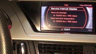 Reset Service Audi A4 B8 2008-2015