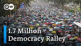 Hong Kong's march of the million democracy rally | DW News
