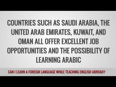 video on your chances to learn a second language while working as a TEFL teacher