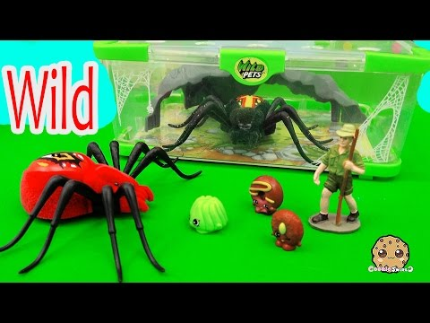 Shopkins Season 4 Visit Interactive Attack Wild Pets Spider In Cage Habitat at Zoo - Cookieswirlc - UCelMeixAOTs2OQAAi9wU8-g