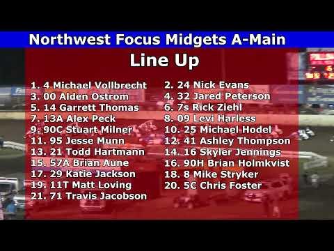 2021 Dirt Cup, Night 3, Northwest Focus Midgets Series A-Main - dirt track racing video image